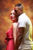 карибская пара танцует детеныши сальса Стоковое Фото