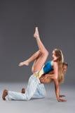 карибская пара танцует детеныши сальса Стоковое Изображение RF