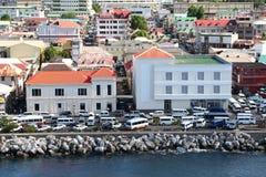 карибский город стоковые фотографии rf