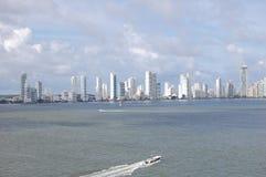 Карибский город белый накалять в Солнце Стоковое Изображение RF