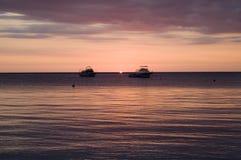 карибский заход солнца ямайки Стоковое Изображение RF