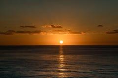 карибский заход солнца Стоковое Изображение