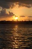 карибский заход солнца стоковые изображения rf