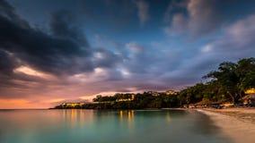 карибский заход солнца Стоковое фото RF