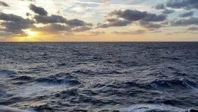 карибский заход солнца Стоковые Фотографии RF