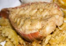 карибский кабель типа плиты омара обеда Стоковое Изображение RF
