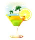 карибский коктеил иллюстрация штока