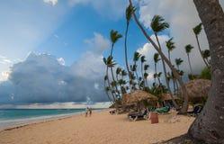 Карибский пляж в Punta Cana Стоковое Фото