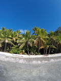 Карибский пляж от воды St. John Стоковая Фотография