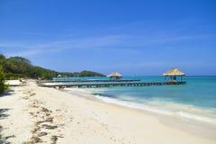 Карибский пляж Стоковое Изображение RF