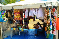 Карибский рынок на St Croix Стоковые Изображения