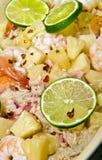 карибский шримс риса тарелки Стоковая Фотография
