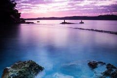 Карибский Twilight ландшафт Стоковая Фотография