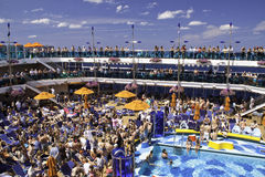 Карибское сновидение - потеха пассажира туристического судна стоковое фото rf