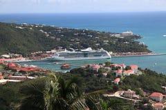 карибское туристическое судно Стоковое фото RF