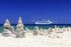 карибское туристическое судно Стоковая Фотография RF