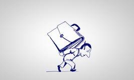 Карикатура бизнесмена иллюстрация штока