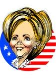 карикатура Клинтон hillary иллюстрация штока