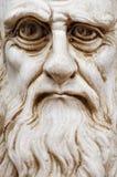 Карикатура Леонардо Да Винчи смотрит на стоковое фото