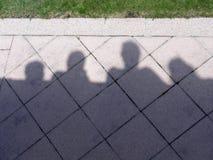 Карикатура тени людей Стоковое Изображение RF