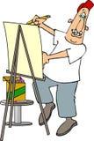 карикатура художника Стоковые Изображения RF