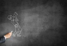 Карикатура человека построителя Стоковая Фотография