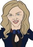 Карикатура Madonna поп-звезды Стоковые Фотографии RF