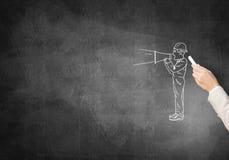 Карикатуры человека инженера Стоковое Изображение