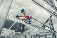 Каркасная безопасность работника рамки стоковая фотография rf