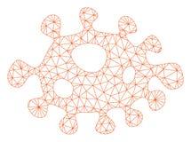 Каркасной модели сетки вектора бактерий иллюстрация вектора