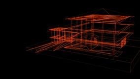 Каркасной модели дома бесплатная иллюстрация