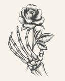 Каркасные руки с розовым цветком Стоковая Фотография RF