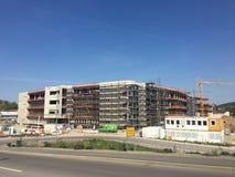 Карлсруэ, Германия, 20-ое апреля 2018: Новые штабы под конструкцией компании в СМ Стоковое Изображение
