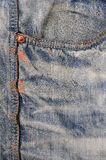 Карманная джинсовая ткань джинсов текстуры предпосылки Стоковые Фото