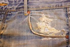 Карманные голубые джинсы Стоковое Изображение RF