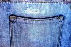 Карманные голубые джинсы Стоковые Фотографии RF