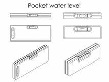 Карманный уровень воды План только Стоковое Изображение