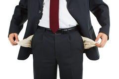 карманн бизнесмена пустое стоковая фотография rf