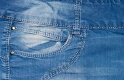Карманн голубых джинсов Стоковое Фото