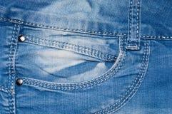 Карманн голубых джинсов Стоковые Фотографии RF