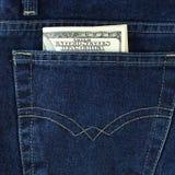 карманн голубых джинсов Стоковое Изображение RF