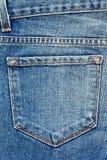карманн голубых джинсов Стоковые Изображения RF