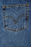 карманн джинсовой ткани Стоковое Фото