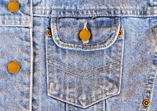 карманн джинсовой ткани Стоковое Изображение