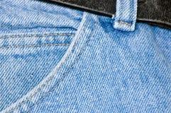 карманн джинсовой ткани Стоковая Фотография