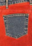 карманн джинсовой ткани corduroy одежды Стоковые Фото