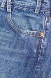 карманн джинсыов джинсовой ткани Стоковое Фото