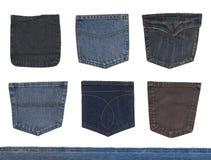 карманн джинсыов джинсовой ткани Стоковые Фотографии RF