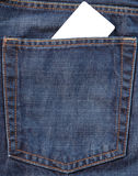 карманн джинсыов карточки Стоковые Фотографии RF