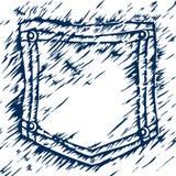 карманн джинсыов Бесплатная Иллюстрация